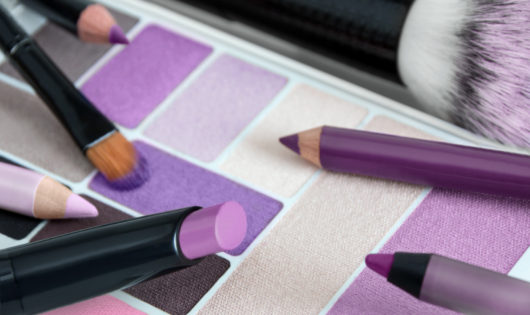 Make up  -  cosmetics products  -  violet